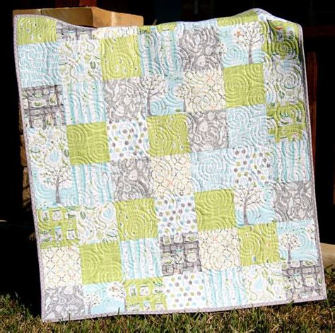 backyard quilts backyard baby boy quilt patchwork trees gray aqua blue