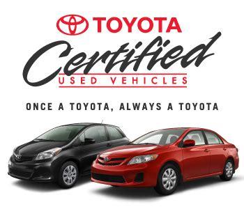 Toyota Certified Used Toyota Certified Used Vehicles