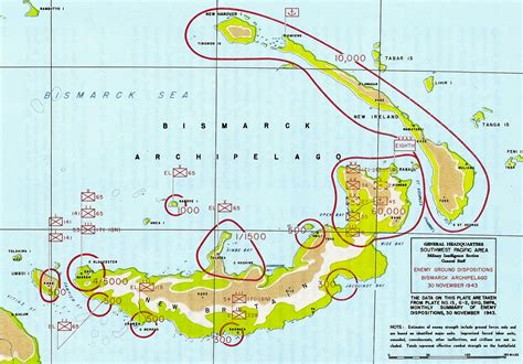 New Britain Section 8 by Cape Gloucester Japanese 1943 Battle