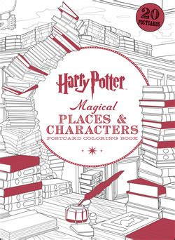harry potter coloring book bam harry potter magical places characters postcard coloring