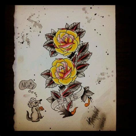 yellow rose tattoo designs best tattoo designs