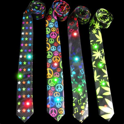 cool led light up christmas tie flashing necktie buy