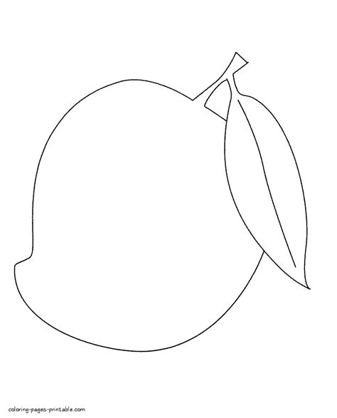 mango coloring pages preschool mango fruit coloring pages for kids