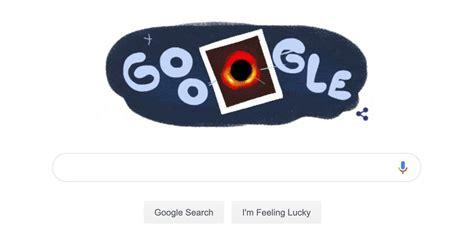 google celebrates  black hole image  special