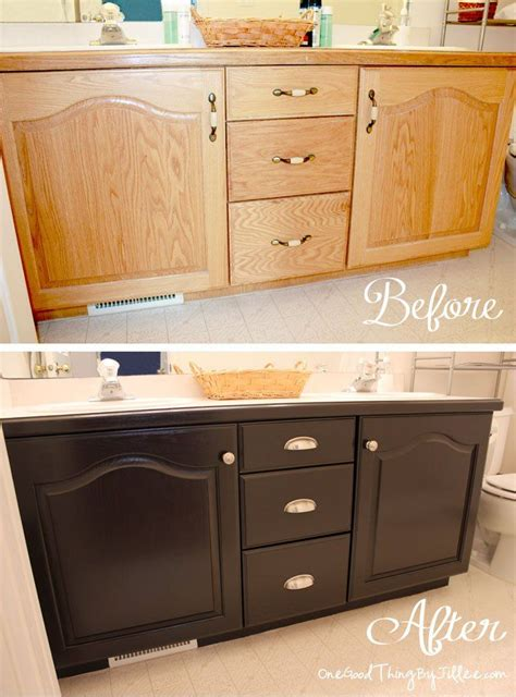 Redo Bathroom Cabinets - best 25 laminate cabinet makeover ideas on
