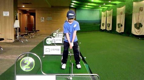 swings korean junior golf swing 8years old korean boy front youtube