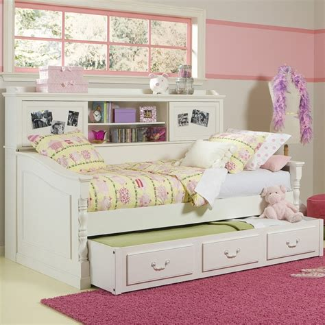 girls day bed beautiful daybed with bookcase and trundle bed great