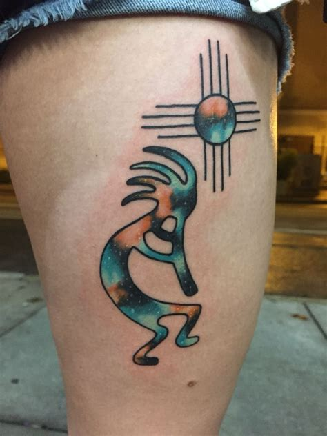 watercolor zia tattoo galaxy kokopelli zia by shane olds at rise above