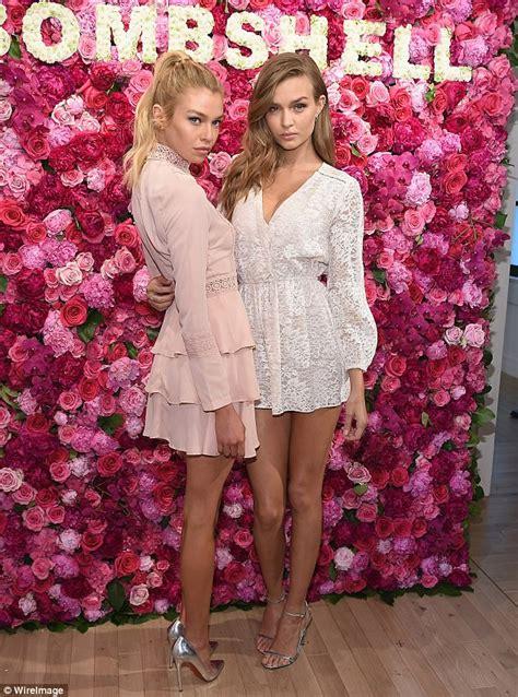 Parfum Secret Supermodel josephine skriver and stella maxwell at vs fragrance bash