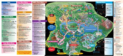 map of animal kingdom park map disney s animal kingdom sep 2011 park maps fort fiends