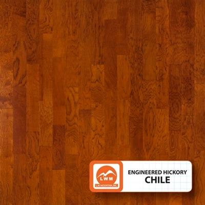 """Engineered 3/8"""" Smooth Hickory   5"""" Width   Chile Color"""