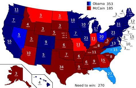 map of us electoral votes map usa electoral votes
