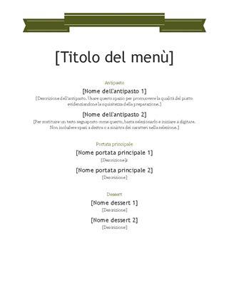 cornici per menu ristorante menu office