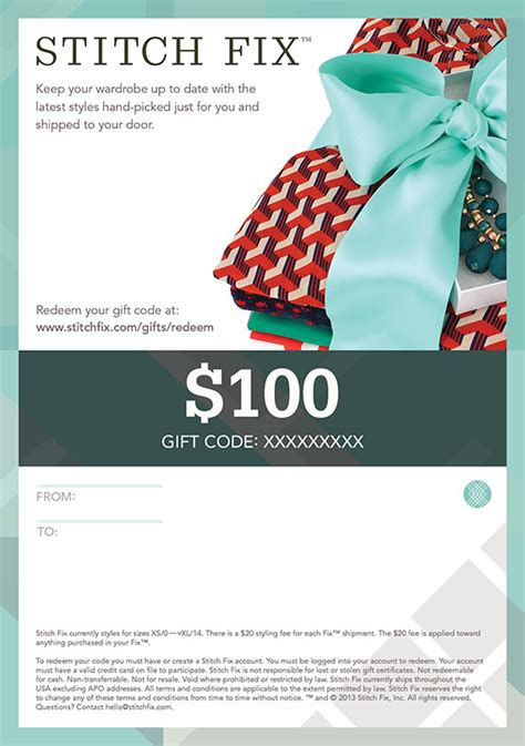 Stitch Fix Gift Card - stitch fix gift certificates