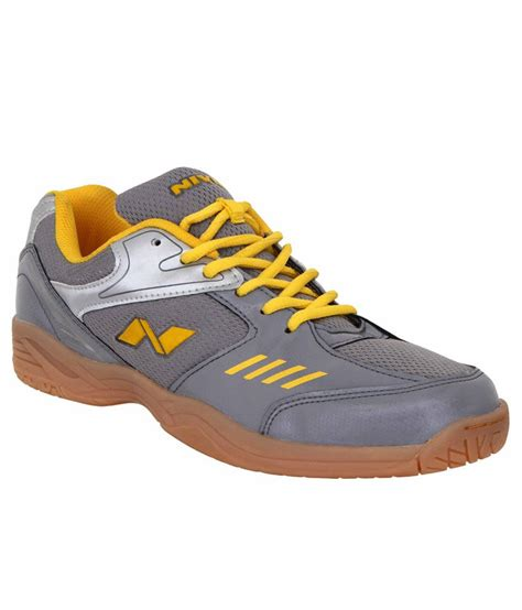 nivia sport shoes nivia hy court gray badminton sports shoes buy at