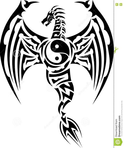 tribal tattoo dragon vector illustration tribal dragon eps vector sign clip art techsspecunic s diary