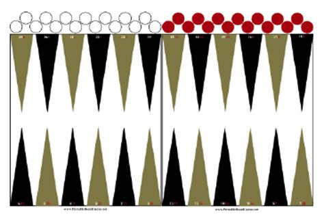 printable directions for checkers printable backgammon board