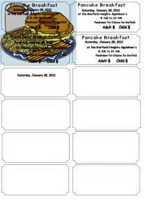 Pancake Breakfast Ticket Template by Pancake Breakfast Fundraiser Flyer Template