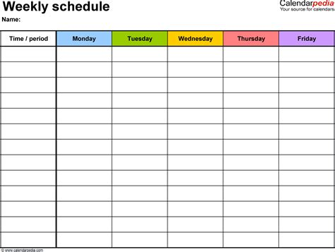 week by week planner template 4 week planner template ganttchart template