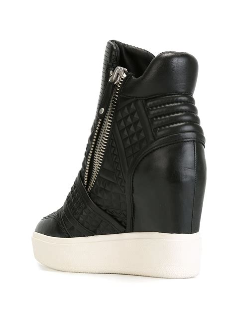 wedge sneakers black ash wedge sneakers in black lyst