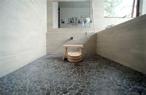 rock flooring bathroom traditional japanese bath with beautiful pebble stone