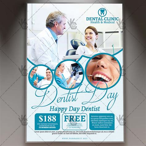 dentist day premium flyer psd template psdmarket