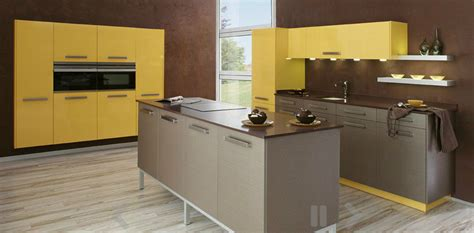 modern yellow kitchen yellow modern kitchen interior design ideas