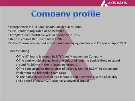axis bank company profile thesis on axis bank