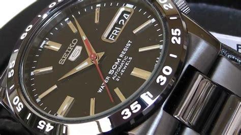 Snke03k1 2s time seiko snke03k1 5 series all black automatic