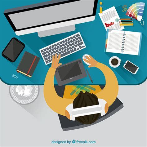 graphics design uq graphic designer workspace vector free download