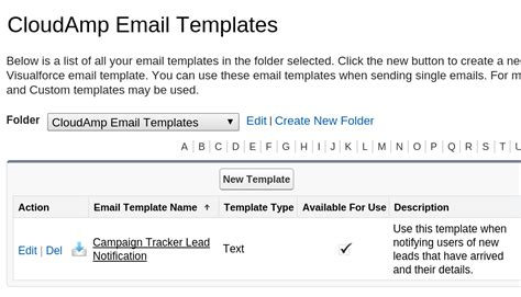 salesforce email templates how to get a detailed email about every new lead in