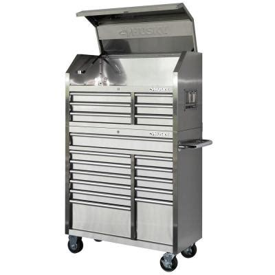 Husky 18 Drawer Tool Chest by Husky 40 In 18 Drawer Stainless Steel Tool Chest And