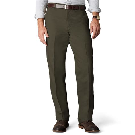 dockers comfort khaki dockers d4 relaxed fit comfort khaki flat front pants in