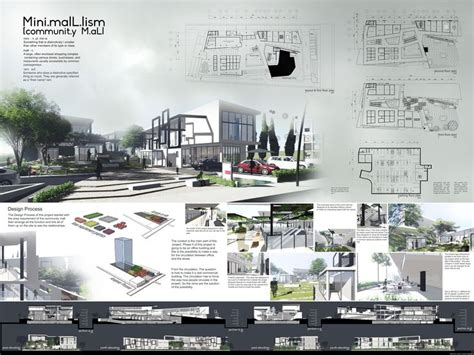 community mall design project in faculty of architecture