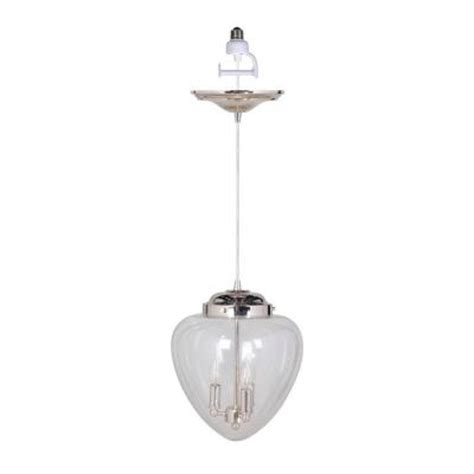 Pendant L Shade Kit by Worth Home Products 3 Light Polished Nickel Instant