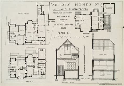 Plans For Sir Hamo S House 1881 Plans For My House Uk