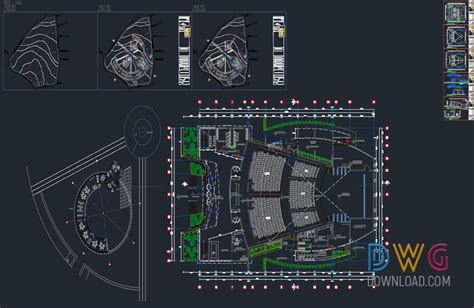 design center autocad free download dwg download cultural center full dwg project