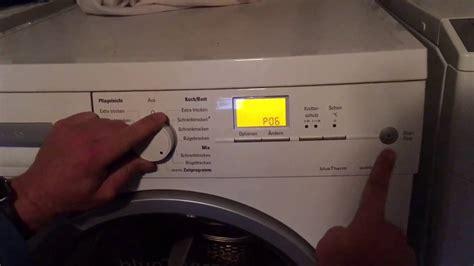 bosch waschmaschine mit trockner pr 252 fprogramm und fehlerspeicher trockner bosch siemens iq