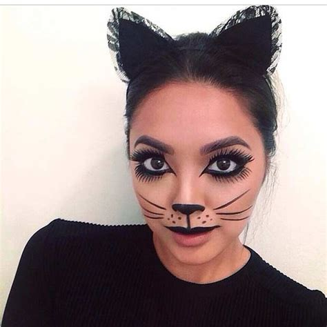 diy cat costume makeup 23 pretty and easy makeup looks easy