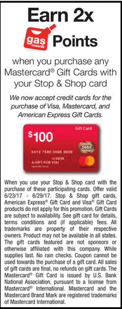 Martins Gift Cards - giant martin s stop shop get 2x fuel points on mastercard gift cards 6 23 6 29