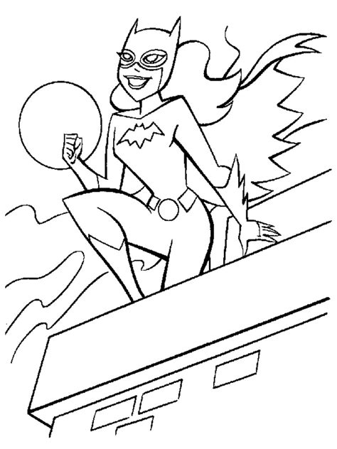 free printable batgirl coloring pages for