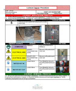 loto program template lock out tag out procedures programs
