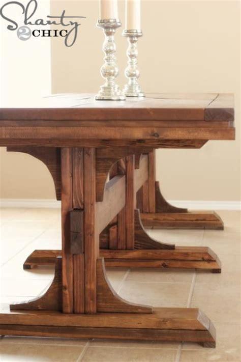 ana white table bench ana white build a triple pedestal farmhouse bench free