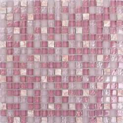 pink stone amp glass mosaic tile square bathroom wall and counter decor