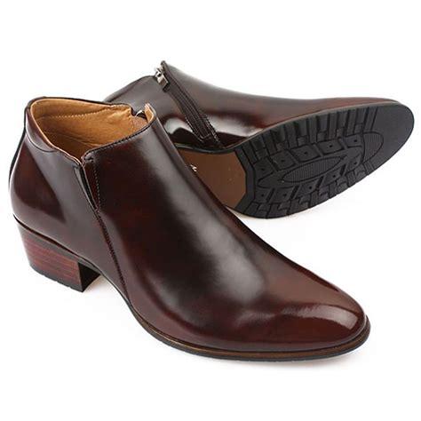 formal boots high top plain toe mens leather dress zipper