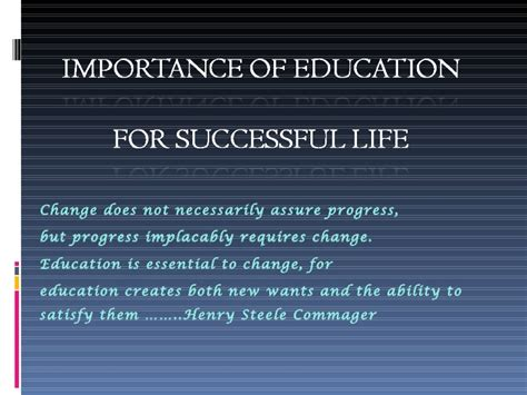 An Essay On Importance Of Education In by Importance Of Education