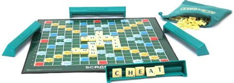 mattel scrabble original brand crossword board