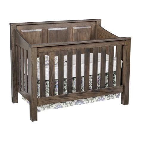 mission panel crib set amish made crib solid wood crib