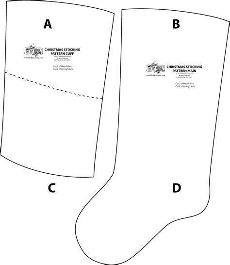 draw pattern christmas stocking free printable