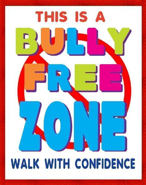 create printable poster online create a bully free zone poster school poster ideas